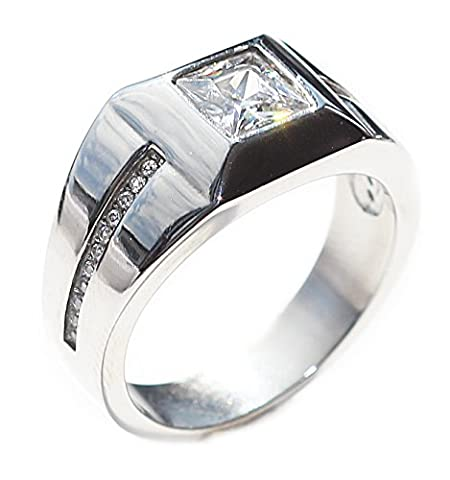 Ah! Jewellery® Men's Highly Polished Stainless Steel Mirror Finish Ring.