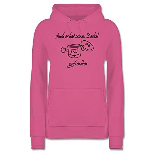 Shirtracer Sprüche - Auch er hat einen Deckel gefunden - XL - Rosa - JH001F - Damen Hoodie