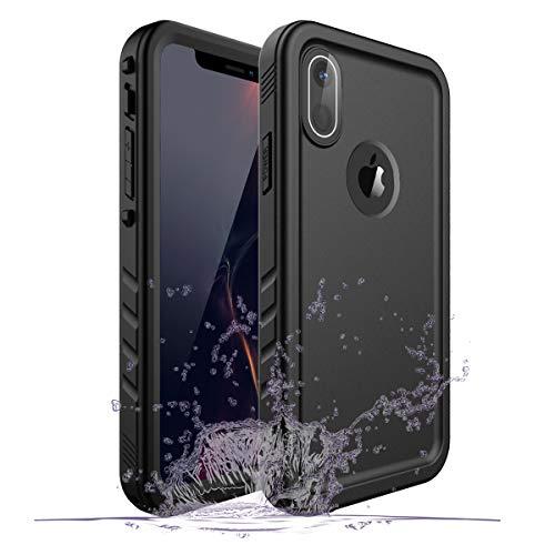 Gelink Custodia Impermeabile per iPhone XR, IP68 Certificato Waterproof Cover Slim Antipolvere AntiGraffio Subacquea Caso Full Protezione Case Protettiva per Apple iPhone XR (Nero)
