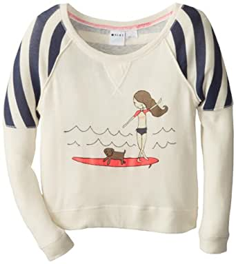 Roxy - Girls Switch Up Pullover Sweater, 8, Sea Spray