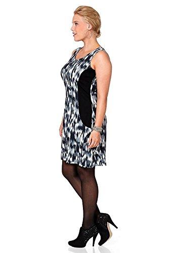 Sheego - Robe - Opaque - Femme Gris Noir/gris Multicolore - Noir/gris