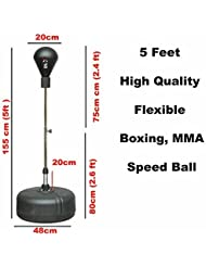 Free Standing Adjustable Adult Boxing Speedball Sparring Punching Ball Boxing Kick Training Muay Thai Martial Arts by Xn8 Sports