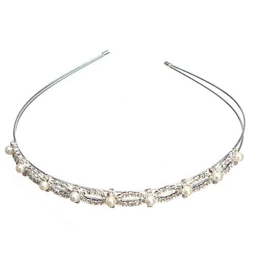 Luxus Braut Haarband Haarschmuck Kristall Haarreif Krone Diademe Tiara Hochzeit 02 Weihnachts geschenke (Kronen Und Diademe)