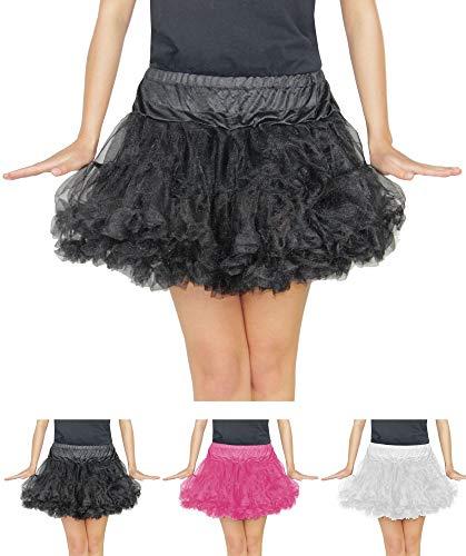Tutu Kostüm Kleid Schwarz - Foxxeo schwarzes Damen Tutu für Ballet Fasching Karneval Tüll Rock kurz