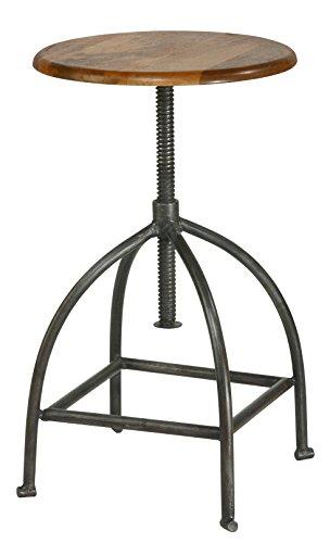 "Drehhocker \""Janne\"" - Industrial Design - Holz Eisengestell"