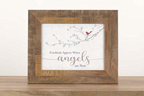 Summer Snow New Cardinals erscheinen, Wenn Engel Sind in der Nähe Neutral Beige Grau Decor Sign Gerahmter Kunst 13x 16 Restoration Brown Frame
