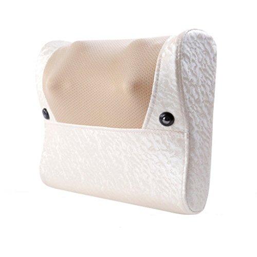 QIHANGCHEPIN 8D Smart Shiatsu Massage Nackenmassagegerät Rückenmassagegerät Fußmassagegerät Beruhigt und entlastet Auto Home Nacken, Schulter und Rückenschmerzen Office Verwendung (m Weiß)