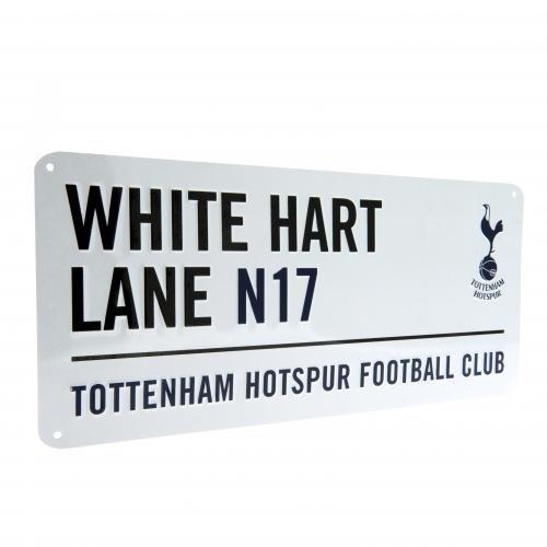 "Tottenham Hotspur F.C. - Placa decorativa (metal, 40x18cm), diseño de club de fútbol Tottenham Hotspur con texto en inglés ""White Hart Lane"""