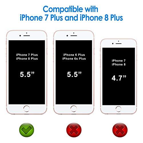 JETech Funda para iPhone 8 Plus y iPhone 7 Plus, Anti-Choques y Anti-Arañazos, HD Clara