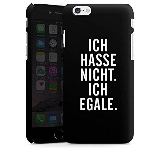 Apple iPhone X Silikon Hülle Case Schutzhülle Humor Egal Sprüche Premium Case matt