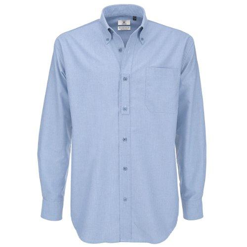 B&C Herren Freizeithemd Oxford Shirt Oxfordblau