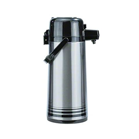 Update International NPD-25-BK-SF Glass Lined 2.5L Push Stainless steel Airpot
