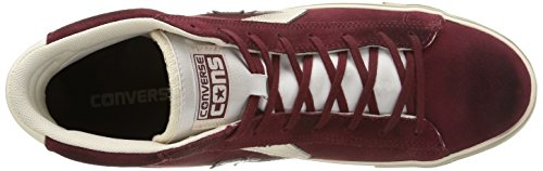 Converse Pro Leather Vulc Mid Suede/lth, Sneakers basses mixte adulte Dark Maroon/Off White