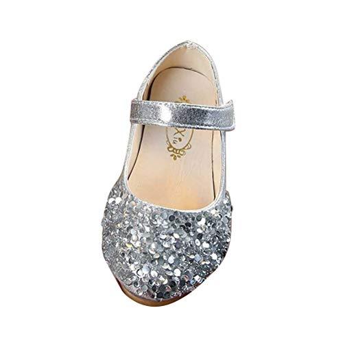ass Tanzschuhe Kinder Mode Prinzessin Schuhe Mädchen Gefälligkeiten (24 Code, Silber) ()