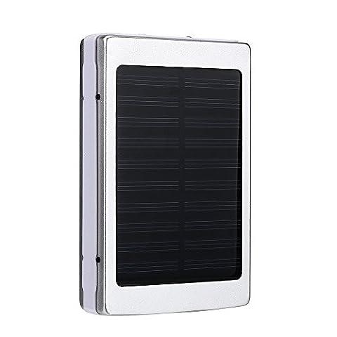 Culater® 30000mAh Dual USB Batterie de Batterie Solaire Portable de