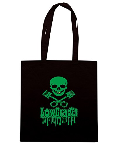 T-Shirtshock - Borsa Shopping WC0478 lowgrader skull and pistons 2 Nero