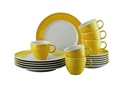 Thomas 10850-408502-28352 Sunny Day Yellow Kaffeeset 18-teilig Kaffeeset, Porzellan, Gelb, 38x28x28...