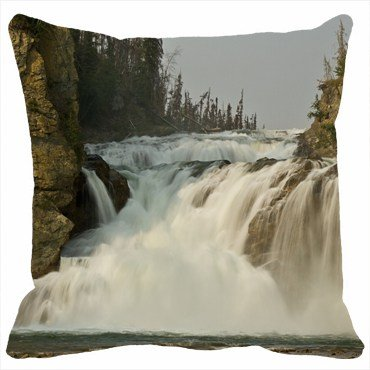 Custom Pillowcases Diy Design Nature Rocks river side waterfall Personalized Home Decor Pillow Cover Case Customized Size 16inchX16inch