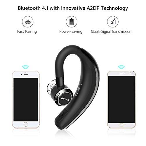 Auricolare Bluetooth 4.1 Senza Fili Mpow Cuffia Bluetooth con Microfono  Stereo 0033b11934ea