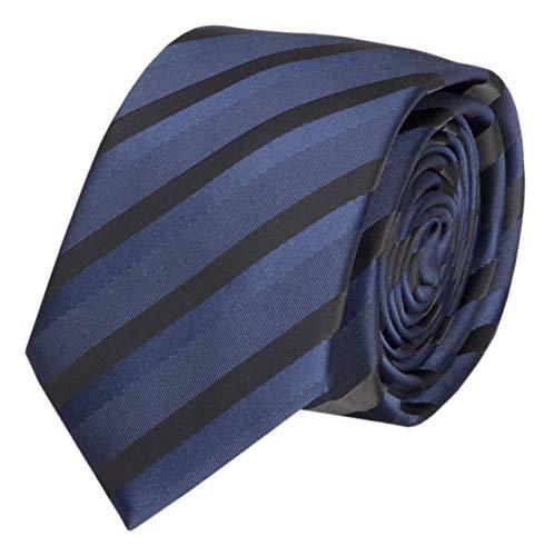 Fabio Farini Étroit Cravate en bleu noir