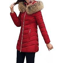 bdb2570c007d8 Femme Courte Manteau Chaud Mince Veste Blouson Chic Mode Casual Grande  Taille GongzhuMM (3X-