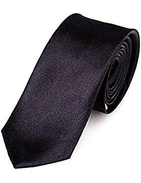 Diseño con corbata negra fina (negro) a mano Uni dinastía pajaritay Trendy Retro