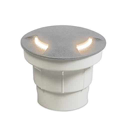 QAZQA Moderne Spot de sol estérieur Ceci 2 gris Plastique Gris Rond/Extérieur/Jardin/Luminaire/Lumiere/Éclairage