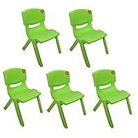 TOYO 5x Children Strong Stackable Kids Plastic Chairs Picnic Party Garden Nursery Club Indoor Outdoor