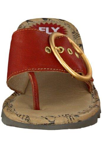 FLY London TRIM, Sandales Compensées femme Rouge