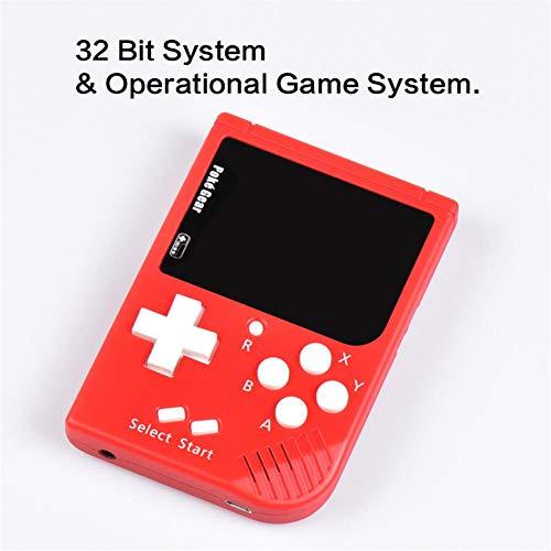 Househome Mini-Spielekonsole, tragbar, Pokemon Retro, tragbar, Spiel-Farben für Kinder, mit ACL-Display, 2,5 Zoll Farbdisplay, Spielkonsole