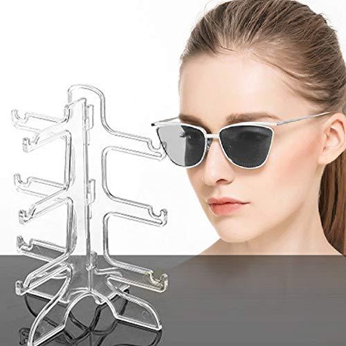 Brillen Sonnenbrillen Show Stand Display Rack Halter Rahmen Display Show Stent (Farbe: klar)