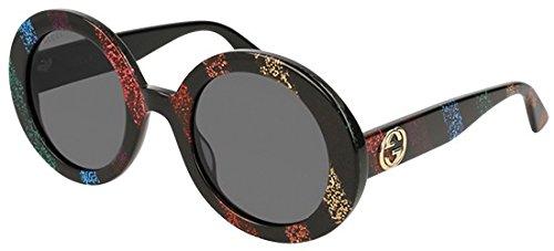 Gucci Sonnenbrillen GG0319S STRIPED BLACK/GREY Damenbrillen