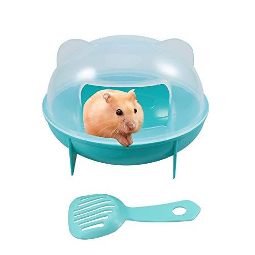 POPETPOP Hamster Sand Bad-Kleintier Badhaus mit Schaufel für Maus Chinchilla Rat Rennmaus und Zwerghamster Katzentoilette -