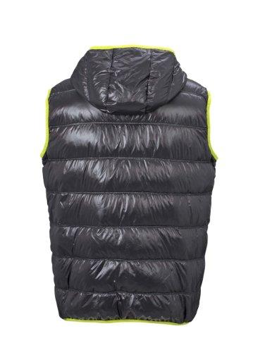 Men's Down Vest im digatex-package carbon/acid-yellow