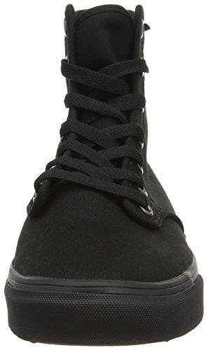 Vans - V318186 - W Camden HI Zip (Canvas) Noir (Canvas/Black/Black)