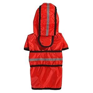 Manteau de Pluie en Plein air pour Chiot pour Animaux de Compagnie Casual imperméable Veste pour Chiens Chat vêtements réfléchissants vêtements de Pluie en Tissu, Rouge, Taille XL