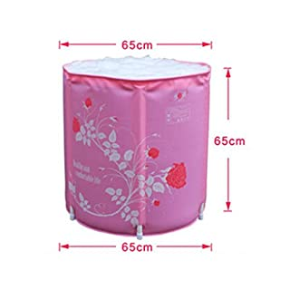 MBJZ The folding shower and bath tub bath tub and adult, pink,65*65cm