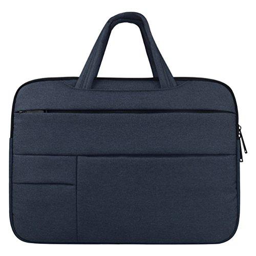 Yuncai 11.6-15.6 Zoll Multifunktional Laptop Handtasche Apple Macbook Stoßfest Notebook Schutztasche Marine 11.6Inch