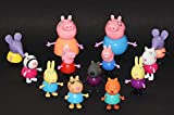#4: Kiditos Peppa Pig Figure Family & Friends Play Set Toy - 13/pcs