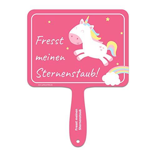 en Sternenstaub  Einhorn-Schild mit Spruch für Büro, Karneval, Selfies | Witzige Geschenkidee oder lustiges Geburtstagsgeschenk für Beste Freundin, Mädels | Scherzartikel ()