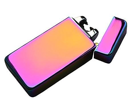 Topsense®Elektronisches Feuerzeug USB Zigarettenanzünder Elektrische Feuerzeuge Aufladbar Double Lichtbogen