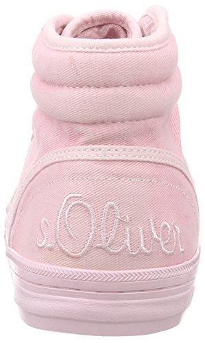 s.Oliver 25206, Baskets hautes femme Rose - Pink (LT PINK 511)