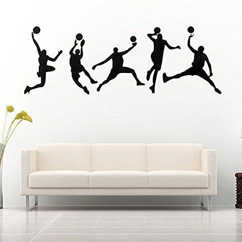 [Livraison Gratuite 7-12 jours] 45X126cm jouer mur de basket-ball autocollants sport amovible sticker mural décor de la chambre de la maison de décalcomanie BML®