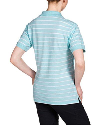 Jack Wolfskin Damen Shirt Riverton OC Polo W Aquatic Blue Stripes