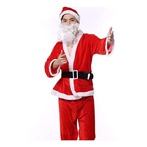 SDLRYF Babbo Natale Vestito Costume di Natale Uomini E Donne Adulti Santa Claus Costume Uniforme di Partito Adulto Costume di Natale