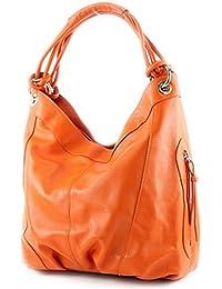 modamoda de - ital. Handtasche Damentasche Schultertasche Ledertasche Tasche Nappaleder Z18