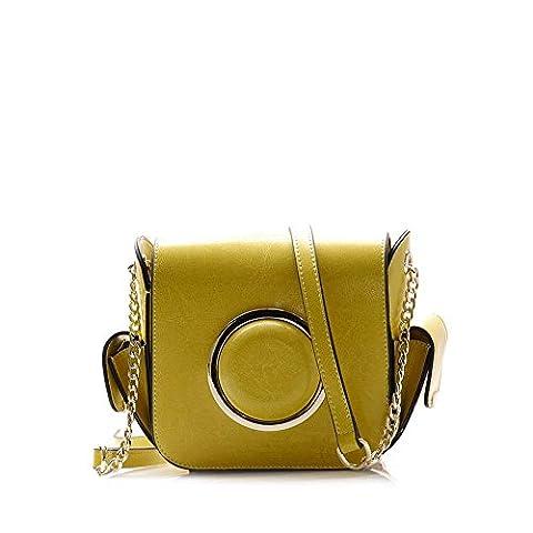 VIVIESTA , Sac pour femme à porter à l'épaule - jaune - moutarde,