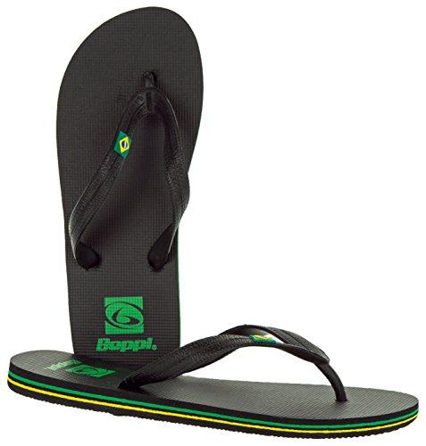 Beppi Bade-Sandalen für Damen und Herren   Zehentrenner-Strandschuhe für Kinder und Erwachsene   Schwarz   Größe 37