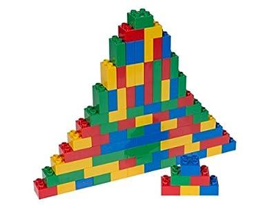 Ensemble de 84 Briques de Construction n°1 Big Briks - pour Grosses Briques/avec Gros tenons - Compatible avec Les Plus Grandes Marques - Bleu, Vert, Rouge, Jaune