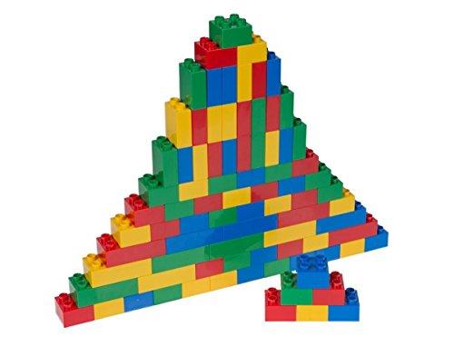 Set n.° 1 de Ladrillos Big Briks para Construir - 84 Piezas - Compatible con Todas Las Grandes Marcas - Tacos Grandes - Azul, Verde, Rojo, Amarillo